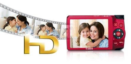 Capture memories your way as either still images or in 720p HD video.