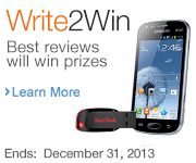Write reviews to win prizes