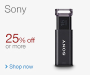 Sony 25% off or more