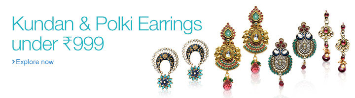 Kundan & Polki Earrings under Rs. 999