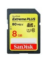 SanDisk Extreme Plus 8GB SDHC UHS-1 Flash Memory Card Speed Up To 80MB/s, Frustration-Free Packaging- SDSDXS-008G-AFFP (Label May Change)