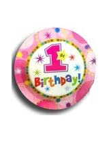 1st Birthday Pink paper plates (pack Of 20)
