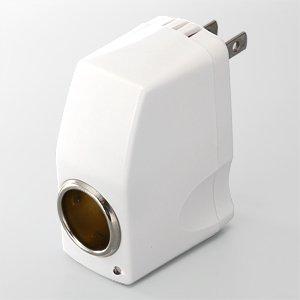 【クリックで詳細表示】サンワダイレクト DC ACコンバーター 屋内用AC-シガーソケット変換アダプタ 700-AC003
