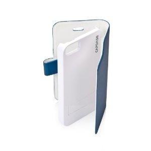 Capdase Sider Fiber Smart Folder Case for Apple iPhone 5 - Blue / White