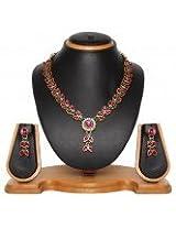 Attractive Kundan Jadau Necklace Set (8495)