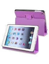 eForCity Leather Case with Stand for Apple iPad mini, Purple (PAPPIPDMLC05)