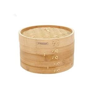 Typhoon Bamboo Steamer Double Tier 10 Inch