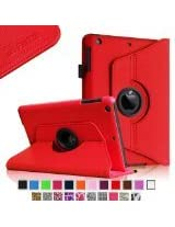 Fintie iPad mini Case - 360 Degree Rotating Stand Smart Cover for Apple iPad mini 7.9 inch Tablet (Automatic Sleep/Wake Feature) - Red