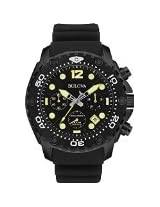 Bulova 98b243 Sea King Stainless Steel Case Rubber Strap Black Dial Black Watch