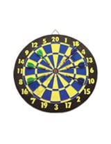 "15"" Wooden Dart Board with Darts"