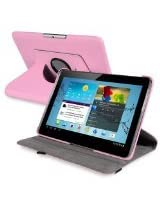 eForCity 10.1-Inch 360-Degree Swivel Leather Case for Samsung Galaxy Tab 2, Pink Version 2 (PSAMGLXTLC18)