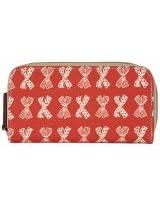 Pink Lining Wallet Diaper Bag, Cream Bows