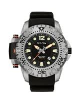 Bulova 96B226 Mens Limited Edition Sea King Black Rubber Watch
