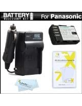 Battery And Charger Kit For Panasonic Lumix DMC-GH3K DMC-GH3 DMC-GH4 DMC-GH4K Mirrorless Micro Four Thirds Digital Camera Includes Extended Replacement (2100Mah) DMW-BLF19E Battery + Ac/Dc Rapid Travel Charger + MicroFiber Cloth + More
