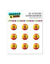 Graphics and More Spain Spanish Flag Home Button Stickers Fits Apple iPhone 4/4S/5/5C/5S, iPad, iPod Touch - Non-Retail Packaging - Clear