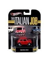 Hot Wheels Retro The Italian Job 1:64 Die Cast Car Morris Mini - Red
