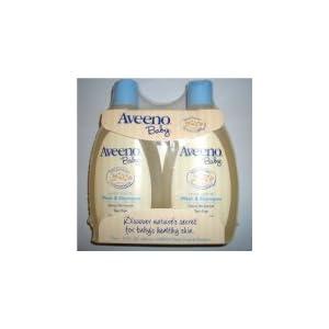Aveeno Baby Wash & Shampoo 12-Ounce Bottle Pack of 2