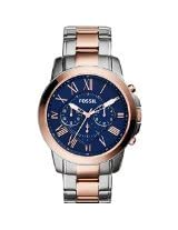Fossil Grant Analog Blue Dial Men's Watch -FS5024