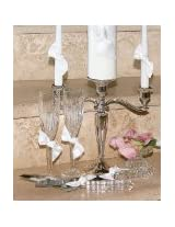 Beverly Clark Collection Love Knot Crystal Cake Knife and Server Set, White