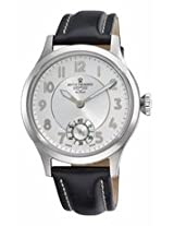 Revue Thommen Mechanical Silver Dial Black Leather Strap Mens Watch 16061.3532