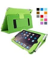 Snugg Leather Kick Stand Case for Apple iPad Mini 3 - Green
