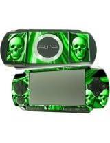 PSP Skull Skin Green