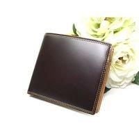 財布*コードバン折財布ブラウン