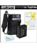 Battery And Charger Kit For Fuji Fujifilm FinePix HS30EXR X-Pro1 X-Pro 1 X-A1 HS33EXR Fujifilm X-E1 X-E2 HS50EXR X-T1 Digital Camera Includes Extended Replacement (1800Mah) NP-W126 Battery + Ac/Dc Rapid Travel Charger + MicroFiber Cloth + More