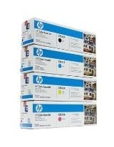 HP Genuine Cb540A, Cb541A, Cb542A, Cb543A Toner Set Bcym Lj Cp1515N, Cp1518Ni, Cp1215, Cm1312 Mfp Sealed In Retail Packaging