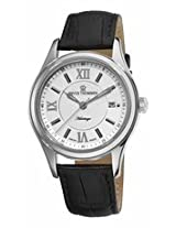 Revue Thommen Heritage Automatic Silver Dial Black Leather Mens Watch 21012.2532