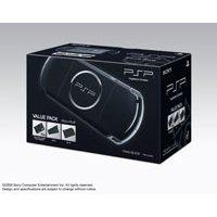 PSP「プレイステーション・ポータブル」 バリュー・パック ピアノ・ブラック(PSPJ-30008)x