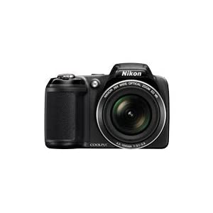 Nikon Coolpix L320 16.1MP Point and Shoot Camera (Black) with 26x Optical Zoom, 4GB Card and Camera Case