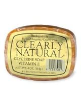 Clearly Natural Glycerine Soap Bar Vitamin E 4 Oz