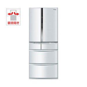 パナソニック 603L 6ドア冷蔵庫 シルキーシルバーPanasonic ECO NAVI 全室ナノイー NR-F606T-S
