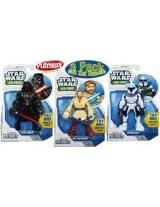 Playskool Heroes Star Wars Jedi Force Darth Vader, Obi-Wan Kenobi Captain Rex Figures Gift Set Bundle - 3 Pack