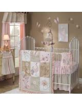 Lambs & Ivy 7 Piece Bedding Set, Fawn