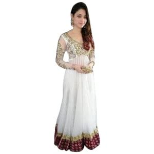 Tamanna Designer White Anarkali Dress