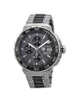Tag Heuer Formula 1 Anthracite Dial Stainless Steel and Ceramic Chronograph Mens Watch CAU2010.BA0873