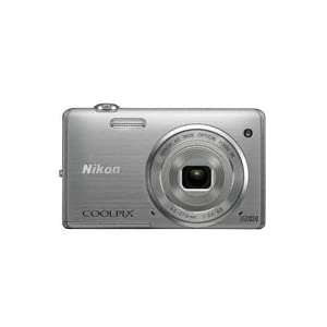 Nikon Coolpix S5200 16MP Point and Shoot Camera (Silver) with 6x Optical Zoom, 4GB Card, Camera Case and HDMI Cable