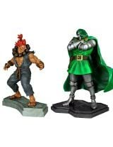 Hollywood Collectibles Dr. Doom vs. Akuma 1:4 Scale Statue Set
