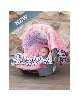 Carseat Canopy 5 Pc Whole Caboodle Baby Infant Car Seat Cover Kit with Minky Fabric (Kendra)