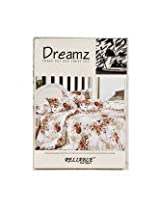 Beautiful Queen Size Bedsheets -Floral Design - Off White Color