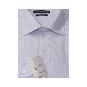 Pan America Men Aqua Striped Shirt With Long sleeves