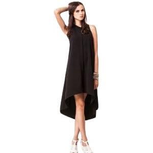 KOOVS O-125 Pintuck Shirt Dress - Black