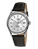 Revue Thommen Automatic Silver Dial Black Leather Strap Mens Watch 20002.2538
