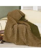HiEnd Accents Chenille Matching Throw