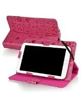 eForCity Stand Leather Case Compatible With iPad Mini 3 / 7-inch tablet, Hot Pink Cute(POTHXXXXLC08)