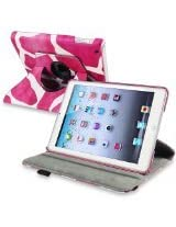 eForCity 360-Degree Swivel Leather Case for Apple iPad mini, Pink Giraffe (PAPPIPDMLC64)