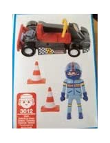 Playmobil Racing Car And Driver With Cones 3012