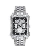 Bulova 96C108 Mens Crystal Striking Visual Design Watch